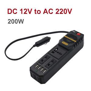 Universal  Ladegerät Auto Spannungswandl<wbr/>er Wechselrichter 12V auf 220V USB 200W