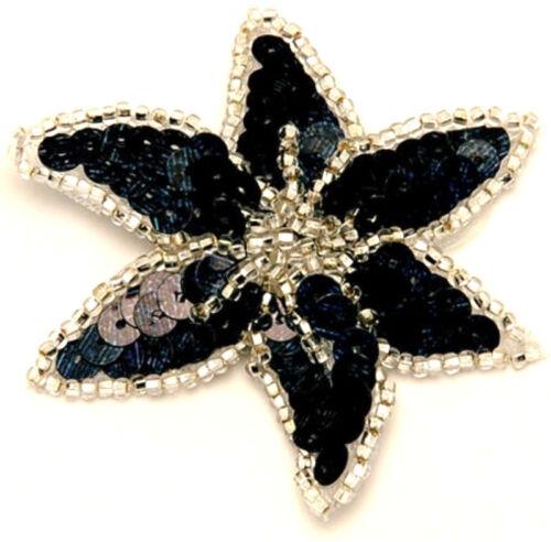 Clip Per Capelli Capelli Gioielli fioritura nero argento PAILLETTES RSG LA DANZA DEL VENTRE danza eisklauf