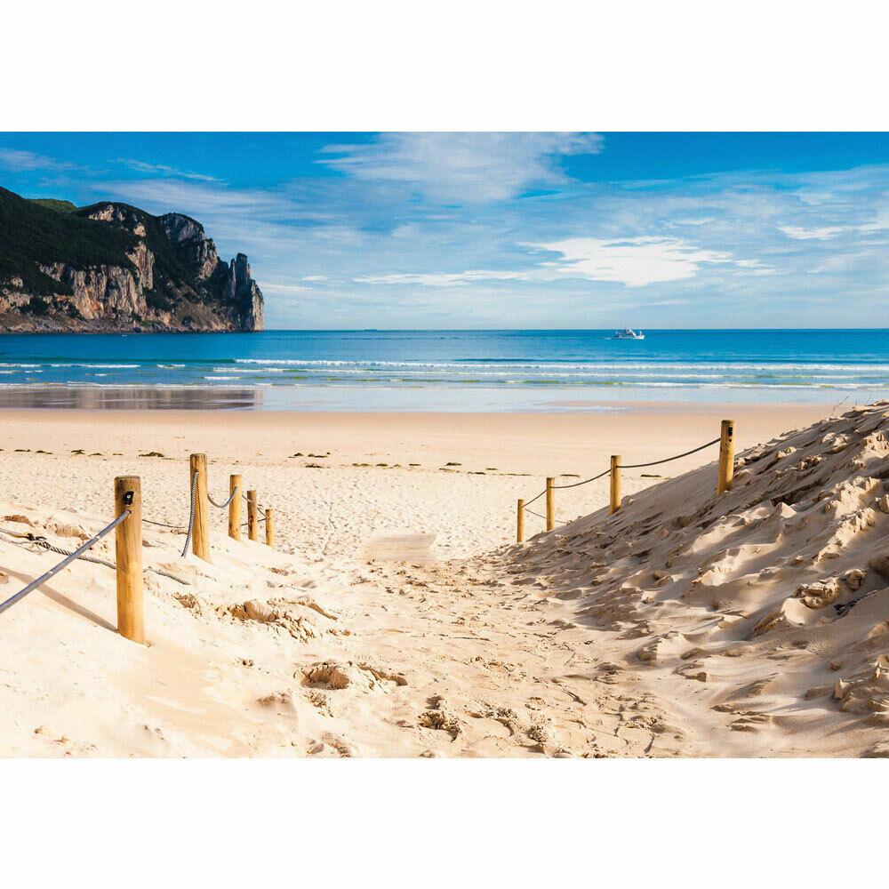 Foto Mural Mar Playa Horizon Bote Agua Liwwing N°2662
