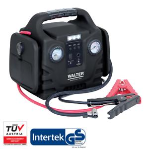 WALTER Autostartgerät mit Kompressor - KFZ-Starthilfe, 12V, USB, Powerbank