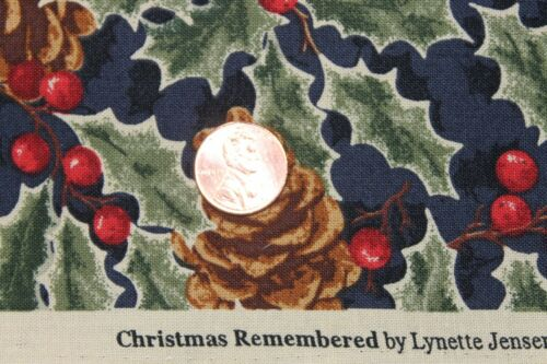 """/""""CHRISTMAS REMEMBERED/"""" THIMBLEBERRIES QUILT FABRIC BTY FOR RJR FABRICS 2766-2"""
