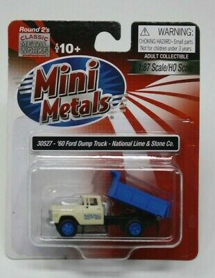 HO Scale Classic Metal Works 30527 1960 Ford Dump Truck National Lime /& Stone Co