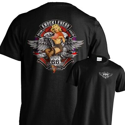 Route 66 T shirt up to 5XL USA American motorcycle