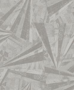 Tapete-Designtapete-VLIES-Praegung-Scherben-Glanz-Taupe-Grau-Silber
