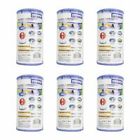 Intex Pool Easy Set Type A Replacement Filter Pump Cartridge (6 Pack) | 29000e