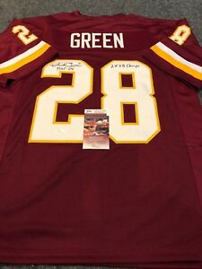 buy online fb1ff a1c85 Details about DARRELL GREEN AUTOGRAPHED SIGNED INSCRIBED WASHINGTON  REDSKINS JERSEY JSA COA