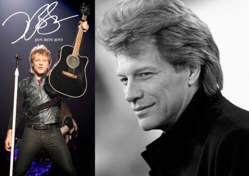 Jon Bon Jovi 10 Duo Unterzeichnet Porträt Amerikanische Singer Poster Musik