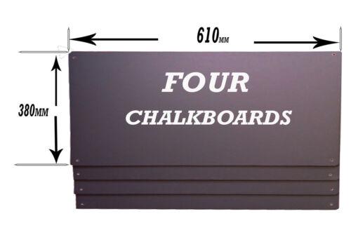 """QTY /""""FOUR/""""  610x380mm LARGE PUB CHALKBOARD-BLACKBOARD"""