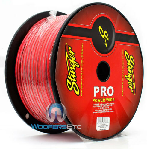 SPW18TR STINGER 8 GAUGE AWG GA RED 250 FEET PRO POWER CABLE CORD WIRE ROLL NEW