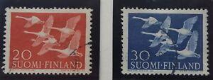 SincèRe 2 X Timbre Stamp Finlande Suomi 1956 Yt 445 446 Oblitérés Une Grande VariéTé De ModèLes