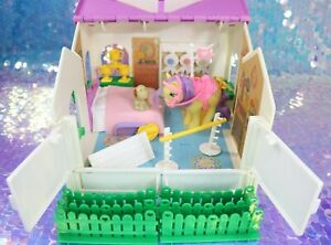 Vintage-My-Little-Pony-SHOW-STABLE-Playset-LEMON-DROP-and-Dog-BRANDY-G1-MLP-Z042