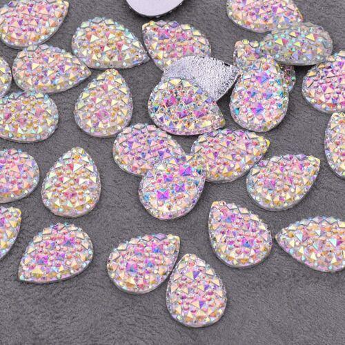 Brillo Cristal AB Pedrería piedras en forma de lágrima-varios Tamaños 50 piezas