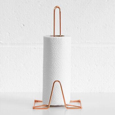 2 DESIGNS IN COPPER Copper Coloured kitchen Roll Holder /&  Mug Tree Stand