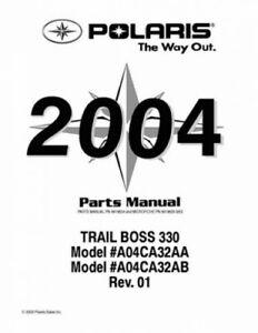 2004 Polaris Trail Boss 330 Parts Manual Ebay