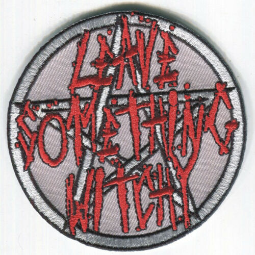Iron On-FREE SHIPPING! LEAVE SOMETHING WITCHY embroidered Patch Charles Manson