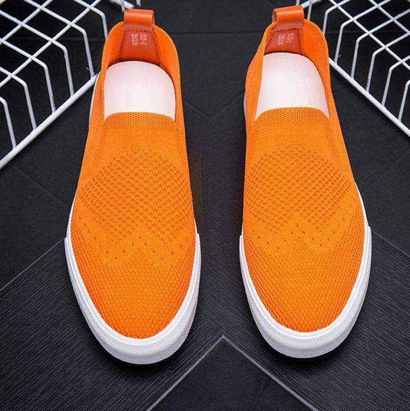 Mens Casual sport mesh Breathable Sneakers Slip On Loafer comfy Driving shoes