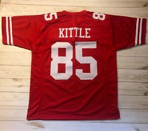low priced d645a 28818 Details about GEORGE KITTLE CUSTOM SAN FRANCISCO SEWN STITCHED JERSEY 49ERS  SUPERSTAR - RED