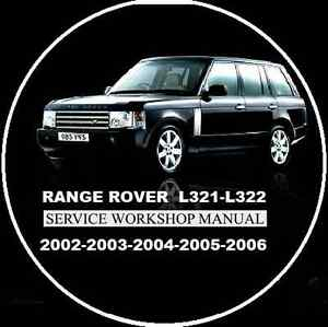 range rover l322 vogue hse 02 06 workshop repair manual cd rh ebay com au 2000 Range Rover 2000 Range Rover
