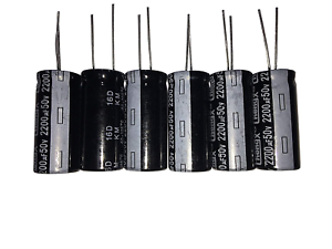 2200uF 50V 16X30 40-+105℃ 6 PCS Aluminum Electrolytic Capacitors //-20/%