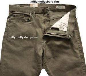 NUOVA linea uomo verde Marks & Spencer Jeans Regolari Vita 32 Gamba 31  </span>