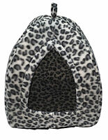 Pet Hut Cat Dog Rabbit Bed Igloo Soft Warm Thermal Fleece Winter Luxury Basket