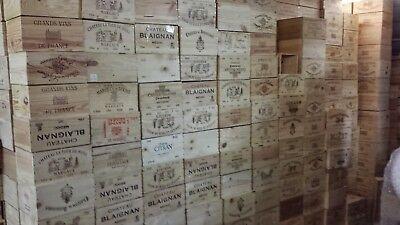 1 X Magnum Francese In Legno Cassa Di Vino * Box Fioriera Per Bambini Cassetti Di Stoccaggio +-