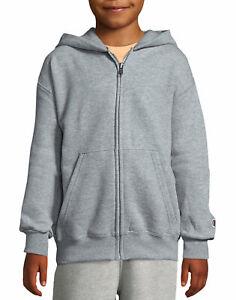 Champion-Kids-Hoodie-Sweatshirt-Double-Dry-Action-Fleece-Full-Zip-Boy-Girl-Heavy