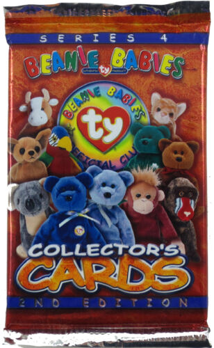 9 cards - New - Series 4 Pack TY Beanie Babies Collectors Cards BBOC