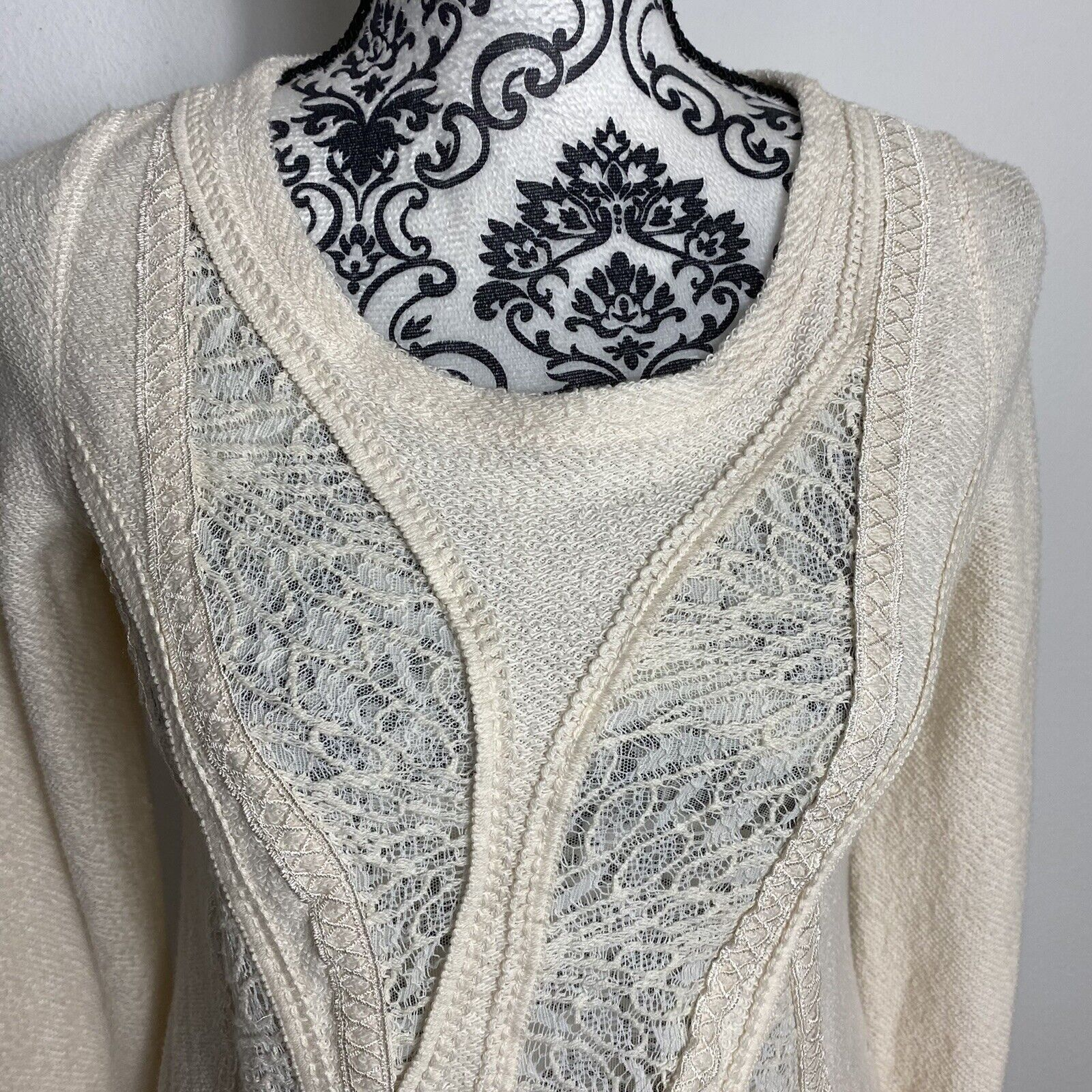 Angel Of The North Fairycore Lace Detail Sweater … - image 2
