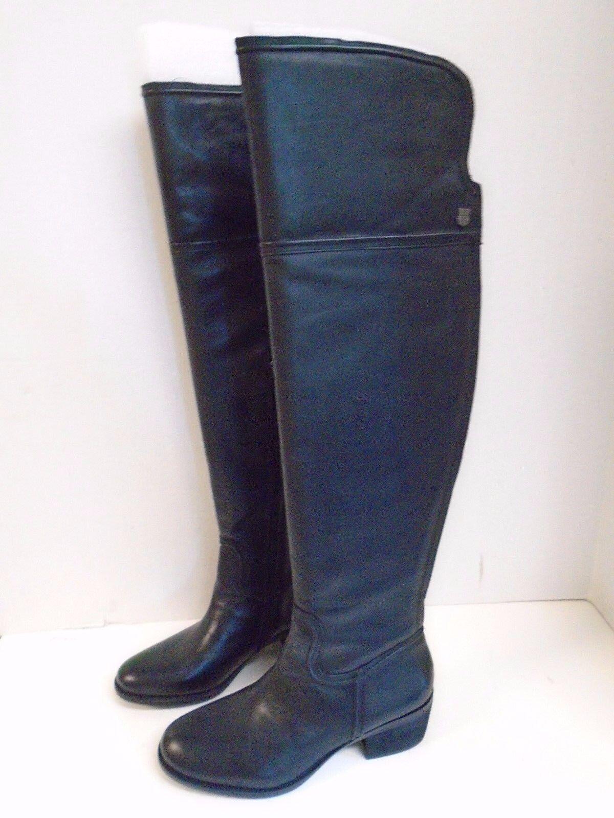 Frye Phillip Riding Extended New Black 5 1 2 M  Boots Half Zipper Wide Calf