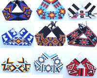 Loom Glass Beads Native American Style Beaded Strip 2 X 10 Inch Handmade