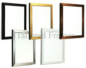 Photo Frame Black White Bronze Gold Silver Frames Sold As Packs Of 2