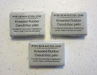 3 Large Sanford Design Prismacolor Premier Kneaded Rubber Art Eraser 70531