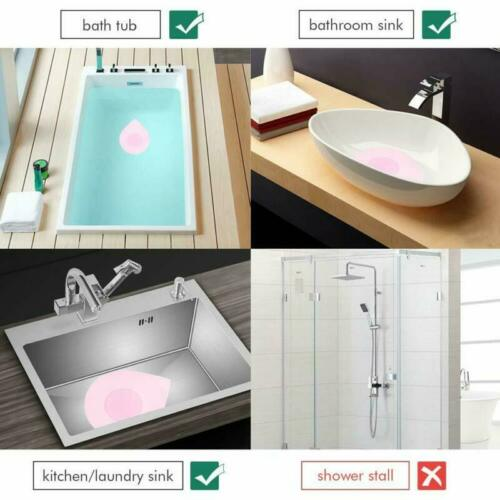 Tub Stopper Plug Cover for Bathtub Silicone Recyclable Rubber Drain 1-1//2-4 in