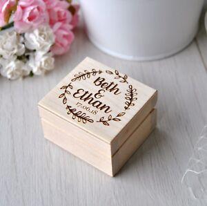 Ring Bearer Box Wedding Ring Box Personalized Ring Box  wedding ring holder Wedding Ring Holder Pillow Bearer Box Wood Box