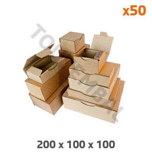 Boîte poste brune d/'expédition 200 x 100 x 100 mm par 50