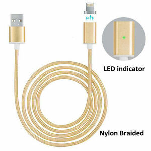 TRENZADO-Magnetico-Lightning-Carga-USB-Cable-Del-Cargador-para-Apple-iPhone