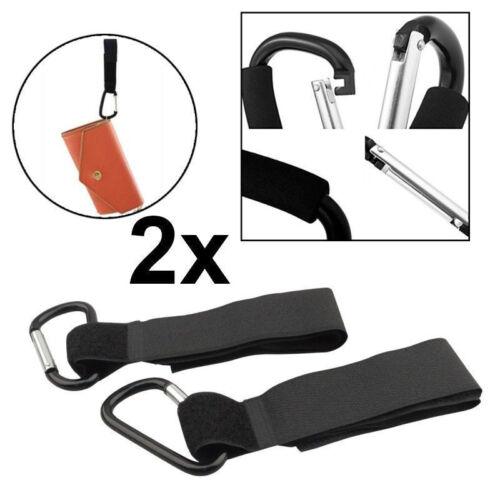 10x Buggy Clips Large Pram Shopping Bag Pushchair Hooks Mummy Carry Clip UK 2x