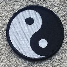 "YIN AND YANG PATCH 3"" Cloth Badge/Emblem/Insignia Biker Jacket Bag Taijitu 陰陽"