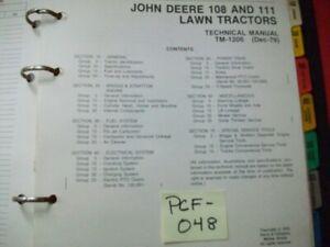 VINTAGE-1979-JOHN-DEERE-LAWN-TRACTOR-MODELS-108-111-TECHNICAL-SERVICE-MANUAL
