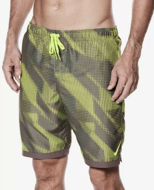 "bf703b2ee8 Nike Men's Printed 11"" Volley Shorts Swim Trunks Volt M for sale ..."