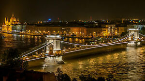 BUDAPEST SKYLINE CITYSCAPE POSTER PRINT STYLE A 20x36 HI RES 9MIL PAPER