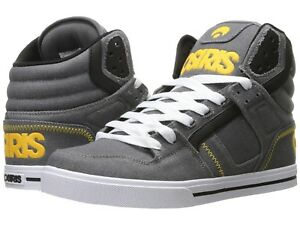 92d466505d9b4 Image is loading MENS-OSIRIS-CLONE-SKATEBOARDING-SHOES-NIB-GREY-YELLOW-