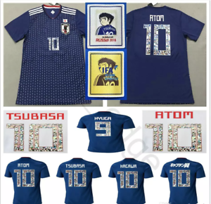 31a614d29 New 2018/2019 Japan Captain Tsubasa #10 ATOM Anime Men's Soccer ...