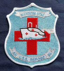 US-Navy-AH-16-Restitutor-Vitae-USS-Repose-Hospital-Ship-Military-Patch
