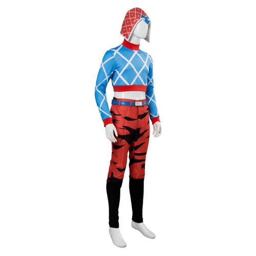 Golden Wind Guido Mista Costume Halloween Suit Cosplay JoJo/'s Bizarre Adventure