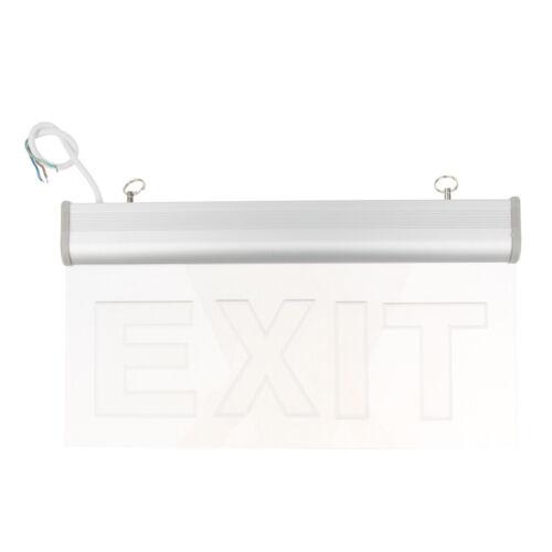 3W LED IP65 Exit Cashier Sign Light Edge-lit Battery Backup Ceiling for Shop