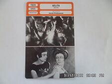 CARTE FICHE CINEMA 1924 AELITA Nicolas Tseretelli Youla Solntseva Igor Hinski