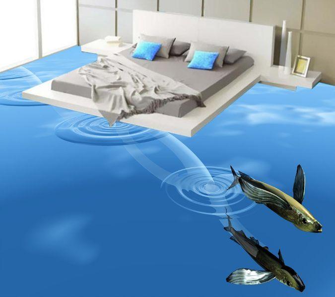 3D Swiming Shark Ocean 5 Floor WallPaper Murals Wall Print Decal 5D AJ WALLPAPER