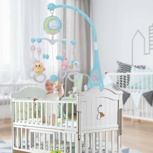 Baby Babybett Bettglocke Mobile Spieluhr mit Projektor Schlafmusik Spielzeug
